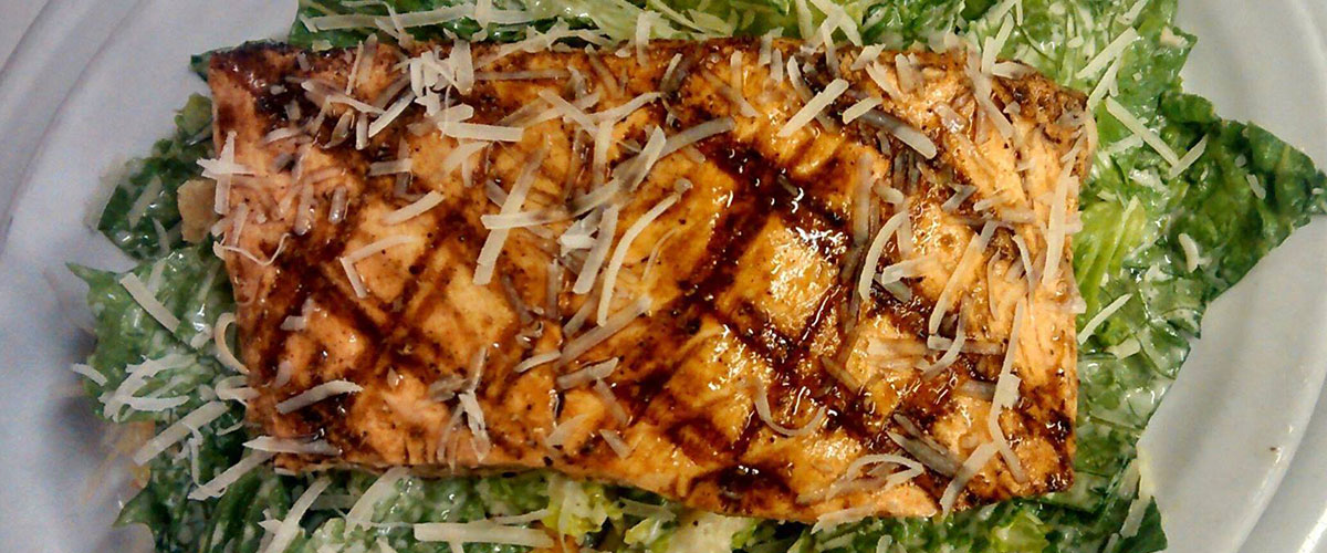 Grilled Salmon Salad from The Bomber Catering Company